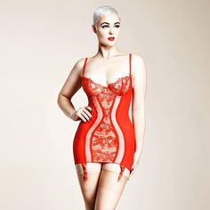 ditavonteese:  #wcw @stefania_model wearing my Savoir Faire corselette in Vermillion Red, available @barenecessities   ♥