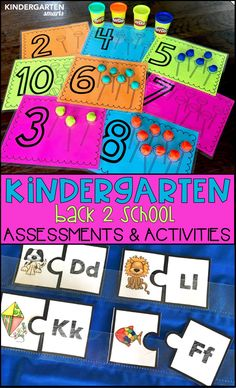 These math & literacy centers with assessments and printables are a great resource for the beginning of the school year.