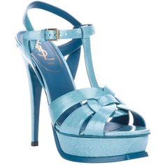 YVES SAINT LAURENT 'tribute' sandal ($835) found on Polyvore