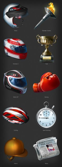 Partouche: extra-large icons on sports and casino on Behance