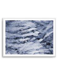 Indigo Abstract Watercolor Print or Poster