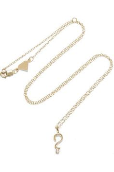 Alison Lou - Hasbro Question Mark 14-karat Gold Diamond Necklace - one size