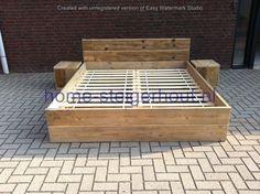 www.home-steigerhout.nl Steigerhouten bed Silvia