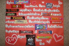 Cute candy bar letter for Valentine! :)