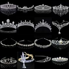 1.21AUD - Crystal Tiara Wedding Bridal Bridesmaid Party Princess Headband Crown Headpiece #ebay #Fashion