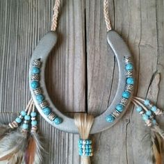 This is one of our popular horseshoes.  It is inspired by the Native American…