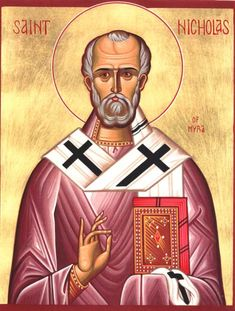 Saint Nicholas, sure you may know him as Santa Claus today. But in his day, he was the bane of heretics. He was reported to even have punched one of biggest heretics, Arius, in the mouth for his heresy. You better NOT lie about Jesus when Santa is around! Origin Of Santa, Original Santa Claus, Santa Claus Images, Catholic Memes, Church Memes, Church Humor, Saint Nicolas, Saint Nick, Episcopal Church
