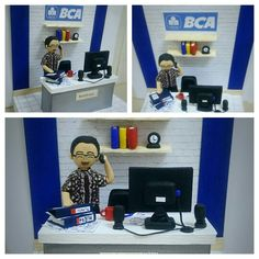 """Paper-clay art _ """"The employee"""""""