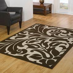 Flair Rugs Element Warwick Damask Rug, Beige\/Brown, 60 x 110 Cm Damask Rug, Brown Image, Hall Runner, Cheap Rugs, Beige Carpet, Modern Rugs, Rugs On Carpet, Animal Print Rug, Rug Size
