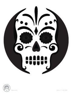 Dia de los Muertos jack-o-lantern pattern