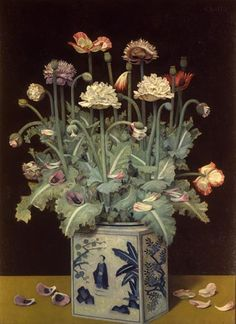 Gentaro KOITO (Japan, 1887 - - Poppies, 1937 - The Independent Administrative Institution National Museum of Art - Collections Flower Vases, Flower Art, Flowers, Collages, Still Life Artists, 10 Picture, Illustrations, National Museum, Graphic