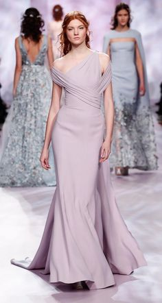 GeorgesChakra Spring 2017 Couture lilac gown