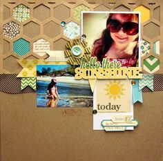 Hello There Sunshine Layout By Nicole Nowosad via Jillibean Soup Blog