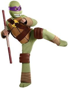 New Teenage Mutant Ninja Turtle - Donatello Kids Halloween Costume by Rubie's