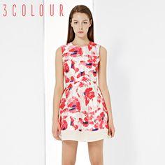 [Proiectat pentru] trei culori 2015 nouă primăvară sifon fără mâneci rochie tiv cusut Femeia lumină roșie Lily Pulitzer, Dresses, Fashion, Vestidos, Moda, Fashion Styles, The Dress, Fasion, Dress