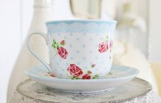 What a pretty tea cup Relaxing Tea, Provence Rose, Cute Cups, Just Dream, Photoshop, My Cup Of Tea, Tea Cup Saucer, Country Decor, Tea Party
