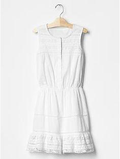 Lace trim dress   Gap   $45