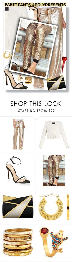 """""""#PolyPresents: Fancy Pants"""" by eldinreham ❤ liked on Polyvore featuring By Malina, BCBGMAXAZRIA, Gianvito Rossi, WithChic, Jill Haber, Ashley Pittman, Chrysalis, Christian Louboutin, contestentry and polyPresents"""