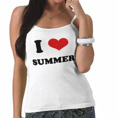 I Heart I Love Summer Top #zazzle