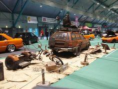Postapocalyptic themed showcar Post Apocalyptic, Cars, Vehicles, Autos, Car, Car, Automobile, Vehicle, Trucks