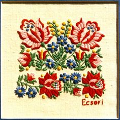 Hungarian Embroidery, Folk Embroidery, Learn Embroidery, Floral Embroidery, Chain Stitch Embroidery, Embroidery Stitches, Embroidery Patterns, Embroidery Techniques, Flower Patterns