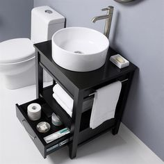 Bathroom Vanity Set includes a black granite top with single faucet hole drilling. The built in towel bar presents the perfect location for hand towels, Granite Tops, Black Granite, Oak Bathroom Vanity, Vanity Set, Lowes Home Improvements, Sink, New Homes, Diy Projects, Flooring