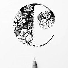 "Goodtype | Strength In Letters (@goodtype) on Instagram: """"C"" by @stephanieeedraws.  #StrengthInLetters  #Goodtype"""