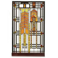 Frank Lloyd Wright® Art Glass Panel - Dana House Sumac. This is a perfect compliment to a home furnished in mission style. From the Signals catalog.