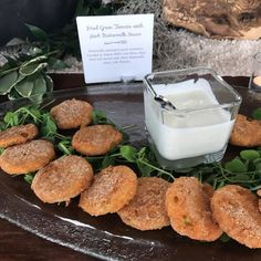 Fried green  #tasting #cateringworks #raleighcatering