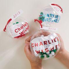 DIY Christmas Wish List Ornament