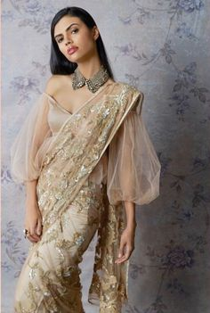 5 Blouse Styles Which Are Worth Having In Your Wardrobe Modern blouses are experimental and also look chic. Discover These Latest Fashion Blouse Styles Which Are Worth Having In Your Wardrobe At Threads. Stylish Blouse Design, Fancy Blouse Designs, Blouse Neck Designs, Latest Saree Blouse Designs, Saree Draping Styles, Saree Styles, Blouse Styles, Trendy Sarees, Stylish Sarees