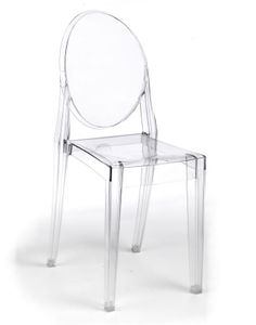Love clear lucite chairs!