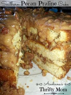 Southern Pecan Praline Cake!.. made from scratch with a rich and delicious icing!! You will be making this one over and over again!!