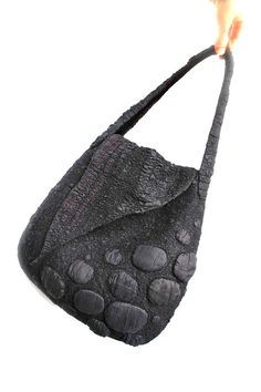 Nuno Felted Shoulder Bag OOAK Large Fall Fashion di FeltedPleasure