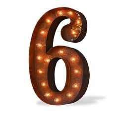 """Shine brighter with our 6 Six Number Vintage Marquee Light! Each of our Light Up Letters / Numbers will fill your home or business with a vintage-inspired, antique style. - Dimensions: 24""""Tall by 13"""""""