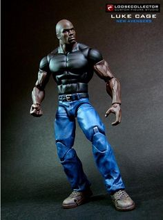 Luke Cage (Marvel Legends) Custom Action Figure by loosecollector Base figure: WWE Elite