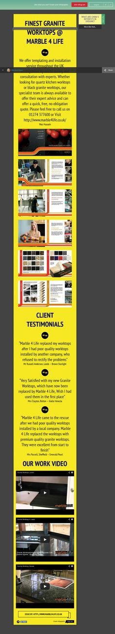 We offer templating and installation service throughout the UK accompanied by onsite survey and consultation with experts. Whether looking for quartz kitchen worktops or black granite worktops, our specialist team is always available to offer their expert advice and can offer a quick, free, no obligation quote. Please feel free to call us on 01274 377600.