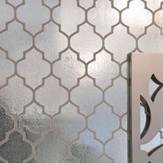 Metallic morrocan wallpaper