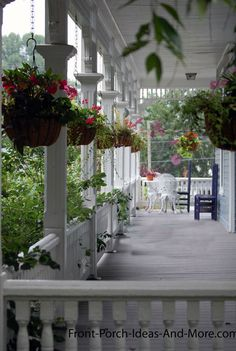 This looks like a story-book front porch. Great place to play. Found on Front-Porch-Ideas-and-More.com #porch