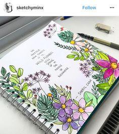 Bullet Journal Notes, Bullet Journal Writing, Journal Themes, Journal Pages, Journals, Buch Design, Drawing Quotes, Journal Aesthetic, Journal Quotes