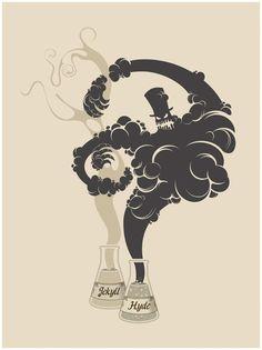Dr. Jekyll and Mr. Hyde poster showcasted at theRobert Louis Stevenson Silverado Museumin Napa Valley, California