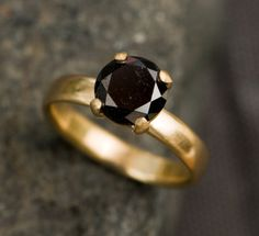 Black diamond ring - William White on Etsy