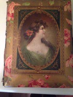 Antique Victorian Celluloid Photo Album