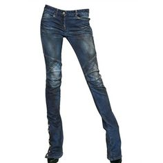 Balmain Flared Stretch Cotton Denim Jeans