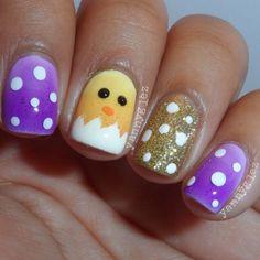yannyglez easter #nail #nails #nailart Easter Nail Designs, Nail Designs Spring, Super Cute Nails, Pretty Nails, Spring Nail Art, Spring Nails, Get Nails, Hair And Nails, Crazy Nails