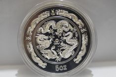 99.99% Chinese 1988 Zodiac 5Oz Silver Coin,Year of the Dragon AAAA