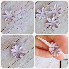 Jak zrobić kwiatki z papieru, How to make paper flowers for scrapbooking projects