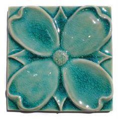 "Sligo Creek Tile Companys ""Dogwood"" tile. I would love this as an accent ona tile wall."