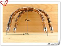 22cm x 15cm Anses de sacs Poignée en bambou pour sac à main sac une paire M83 : Fermoirs sac, porte-monnaie par 3dcf