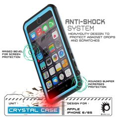 iPhone 6S+ PLUS/6+ PLUS  Waterproof Case, PUNKcase CRYSTAL Light Blue Apple iPhone 6S+ PLUS/6+ PLUS  Waterproof Case W/ Attached Screen Protector | Lifetime Exchange Warranty The PUNKcase CRYSTAL case is your ultimate protection against what you or nature can offer. IP68 certified! The CRYSTAL case is Waterproof, Dust Proof, Snow Proof, Drop Proof, Shockproof and it has a HD clear scratch resistant screen guard to complete the protection. The package includes a lanyard. Easy access to all…